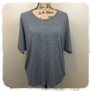 Melrose and Market Black/Gray Stripe Top sz. Xs